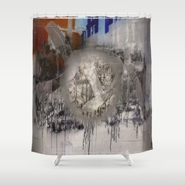 The surface etch Shower Curtain