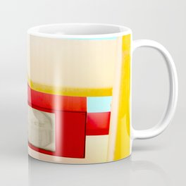 Architectural photography street lamp red+yellow / aqua sky Coffee Mug