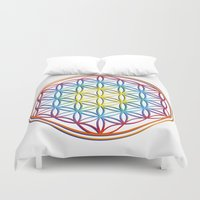 flower of life Duvet Covers featuring the flower of life by Li-Bro