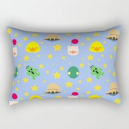 final fantasy pattern blue Rectangular Pillow
