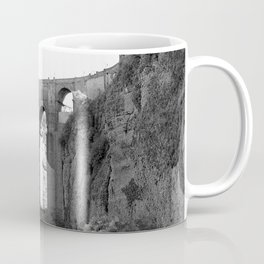 Black White Bridge Architecture Coffee Mug