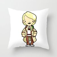 fifth element Throw Pillows featuring FIFTH by Space Bat designs