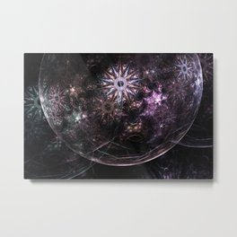 Mobius Fractal Bubble Metal Print