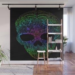 rainbow skull Wall Mural