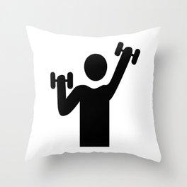 weight lifting Throw Pillow