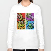 lichtenstein Long Sleeve T-shirts featuring Lichtenstein Pop Martial Art Chelonians Set by Butcher Billy