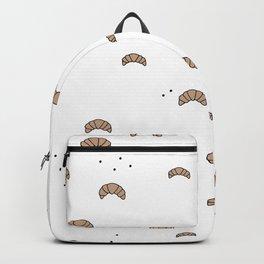 Bonjour good morning breakfast croissant love print Backpack