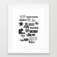 bands Framed Art Prints featuring Alternative Bands by Fandom Things