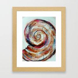 Moon Shell in Color Framed Art Print