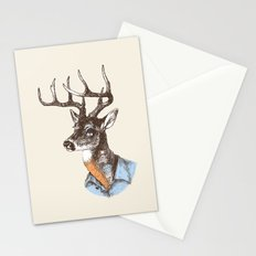 Lucienne the crying deer (with tattoos) Stationery Cards