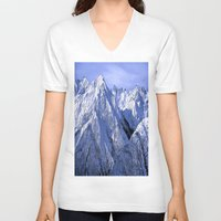 giants V-neck T-shirts featuring Giants by Robin Curtiss