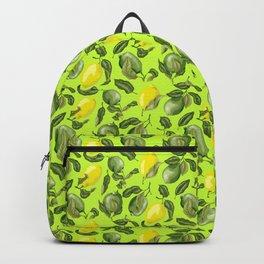 Citrus Lime and Lemon Pattern Backpack