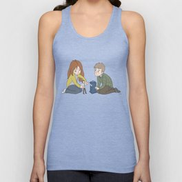 The Girl Who Waited, The Boy Who Waited, and Their Raggedy Doctor Unisex Tank Top