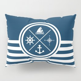 Sailing symbols Pillow Sham
