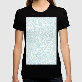 Small Spots - White and Light Cyan T-shirt