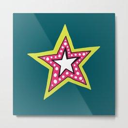 bright fun star Metal Print