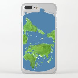 Stay Woke Tee, Earth Tee Clear iPhone Case