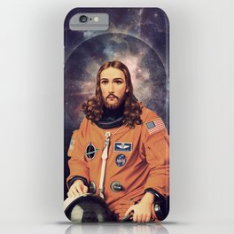 """Jesus """"Space Age"""" Christ - A Holy Astronaut iPhone Case"""