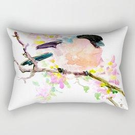 Bullfinch and Spring Rectangular Pillow