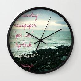 lazy sunday/newspaper Wall Clock