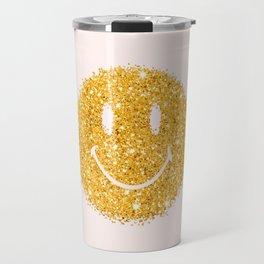 Happy Glitter Travel Mug