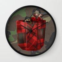 hunter x hunter Wall Clocks featuring Hunter by Piotr Burdan