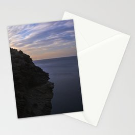 Sunrise at the Big cliff.. Mystical beaches. At sunrise Stationery Cards
