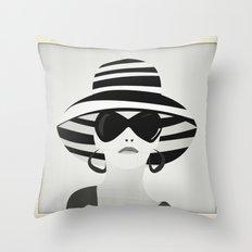 Snapshot (black & white) Throw Pillow