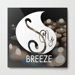 SOY BREEZE candle light Metal Print