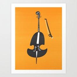 Double Bass Jazz Art Print