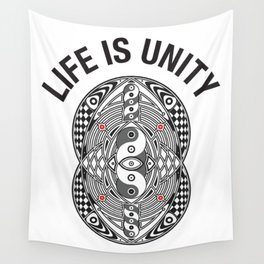 Vesica Piscis Life Is Unity Wall Tapestry