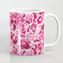 Pug Camouflage Pink Coffee Mug