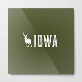 Deer: Iowa Metal Print