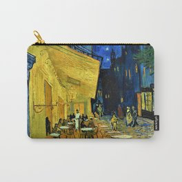 12,000pixel-500dpi - Vincent van Gogh - Cafe Terrace at Night - Digital Remastered Edition Carry-All Pouch