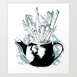 Happiness in a Teapot Art Print