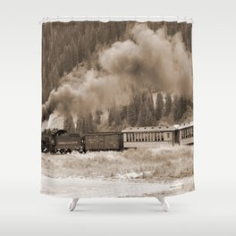 Steam Hauled Train - Engine 486 Shower Curtain