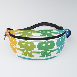 Rainbow Robots Holding Hands Fanny Pack