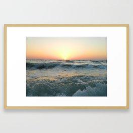 Sunsetting into Sea Framed Art Print