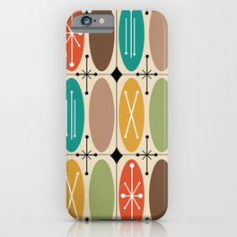 Atomic Era Ovals In Rows Colorful iPhone Case