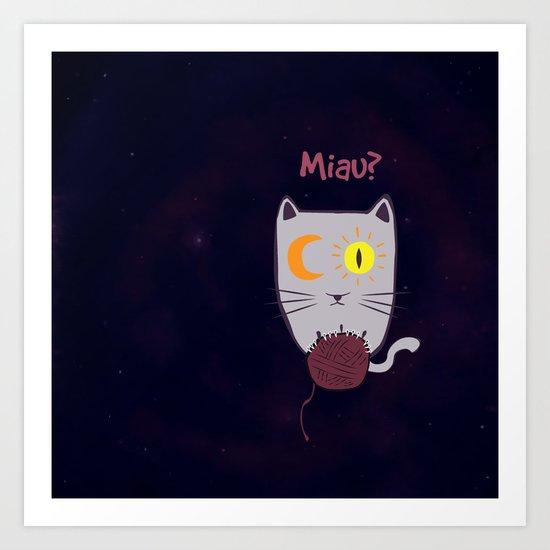 Miau? Art Print