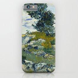Vincent van Gogh - The Rocks (1888) iPhone Case