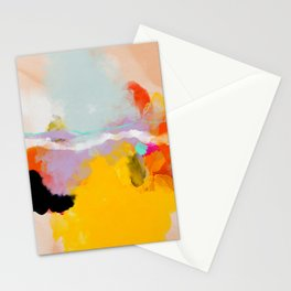 yellow blush abstract Stationery Cards