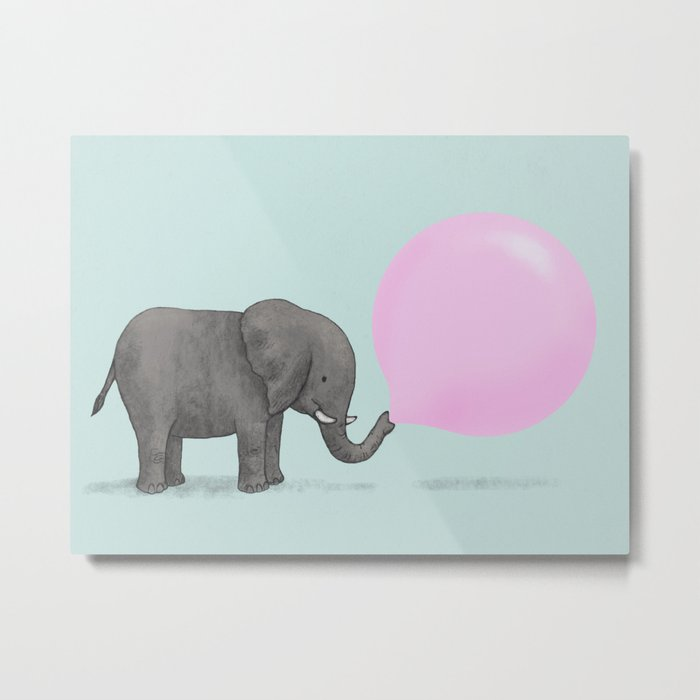 Jumbo Bubble Metal Print