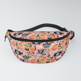 Peachy Tea Time - Pink Fanny Pack