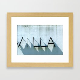 Villa Shadows Framed Art Print