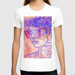 Woman Working IT 9 2 5 - Female 80's Digital Fashion Illustration on Watercolor T-shirt