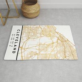 CLEVELAND OHIO CITY STREET MAP ART Rug