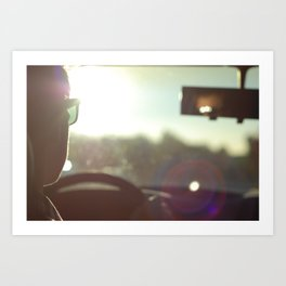 Driving Into the Sun Art Print