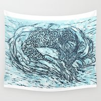 sleep Wall Tapestries featuring Sleep by Ambitious Waffle
