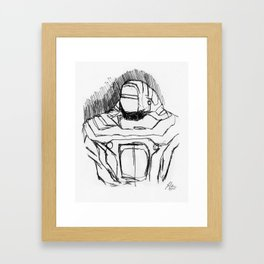 Warbot Sketch #056 Framed Art Print
